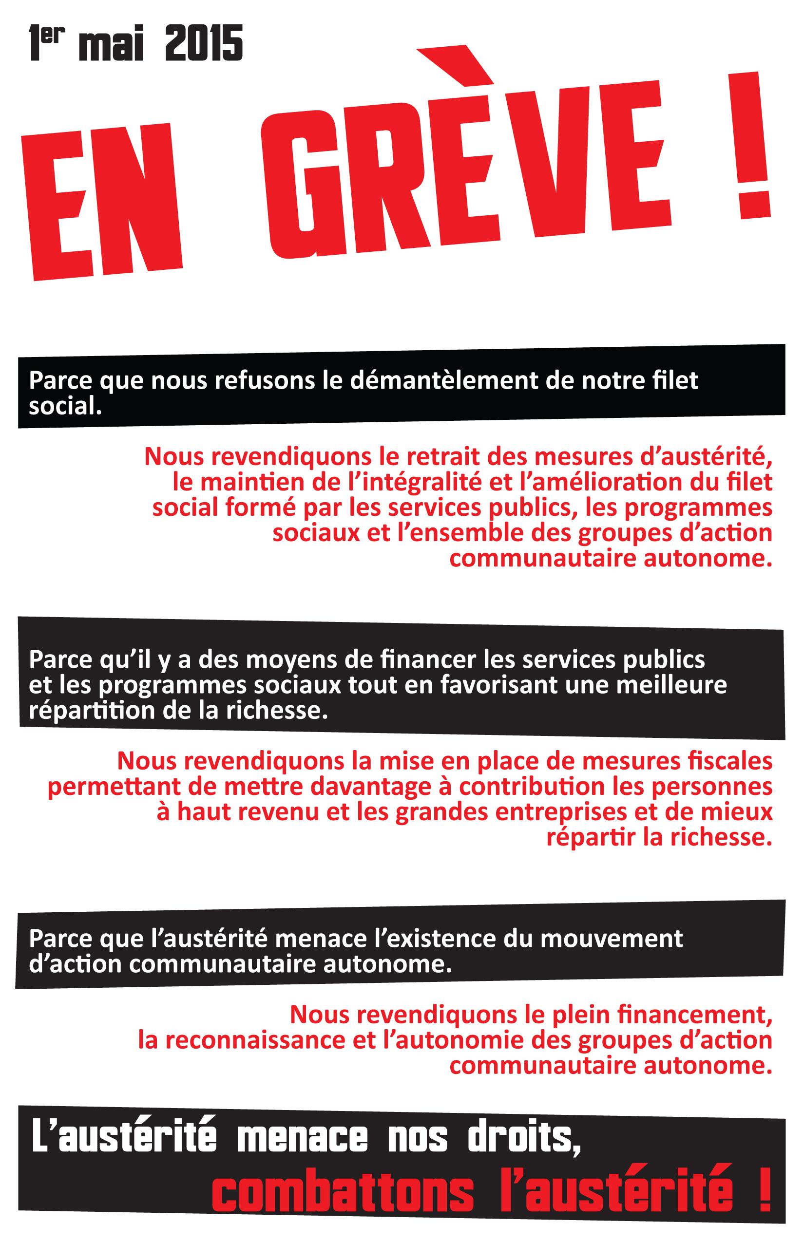 Affiche en greve
